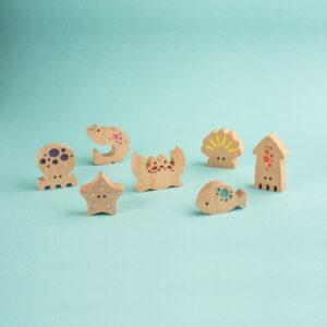 Holz-Spielzeug-Set die Strandwelt1