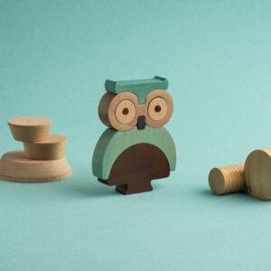 Die Eule Holz-Steck-Figur1