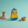 Der Meeresgott Poseidon Holz-Spiel-Figur