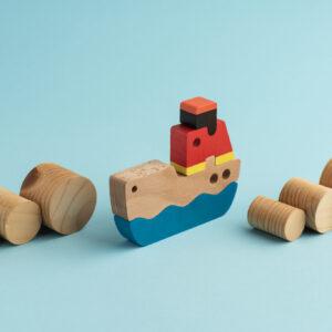 Umweltfreundliches Spielzeug Handelsschiff1