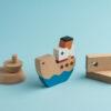 umweltfreundlichen Spielzeug Holz-Puzzle griechische Fähre