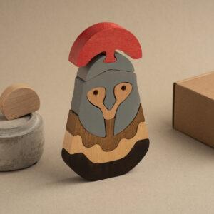 Der Spartaner Holzsteckfigur lustige DEKO 1