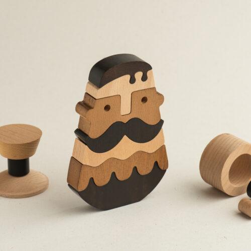 Holzdekoration der Kretaner minimalistische Design