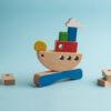 Holzstapelspiel - Schiff Ahoi! Das balancierende Schiff 1