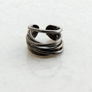 Schwarzer rhodinierter Silber Ring3