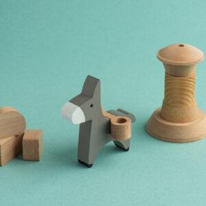 Umweltfreundliches Holzspielzeug der griechische Esel 2