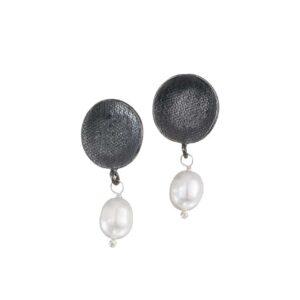 Silber-Steck-Ohrringe mit Perlen, Schmuck aus Griechenland