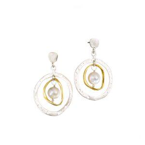 Silber-Ohrringe Creolen