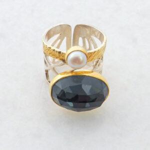 Silber-Ring mit Edelstein