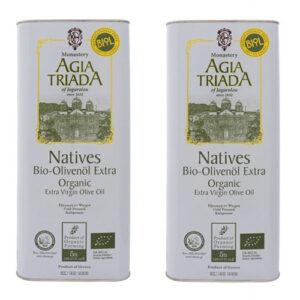 Organic Olive Oil from Crete Super-Saver-Package 2 x 5 Liter from Monastery Agia Triada