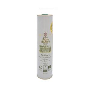 Organic Olive Oil Monasteray Agia Triada Crete 750ml can