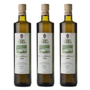 Organic Olive Oil Agia Triada Super-Saver-Offer 3 x 750 ml bottles