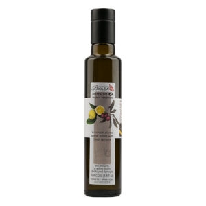 Organic Olive Oil  from Crete flavoured with organic lemons